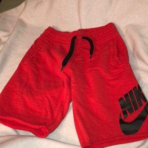 Red Nike Jogger Shorts